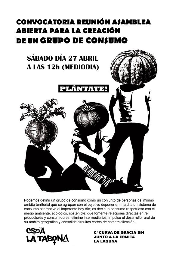 Cartel GRUPO DE CONSUMO copia