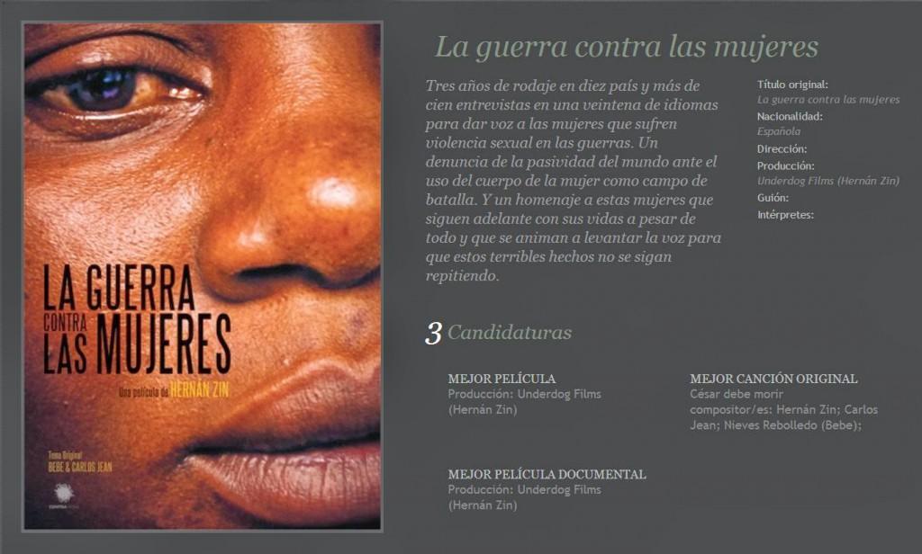 Guerra_contra_las_mujeres_Nominación